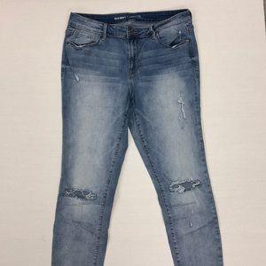 OLD NAVY Rockstar Light Wash Distressed Jeans